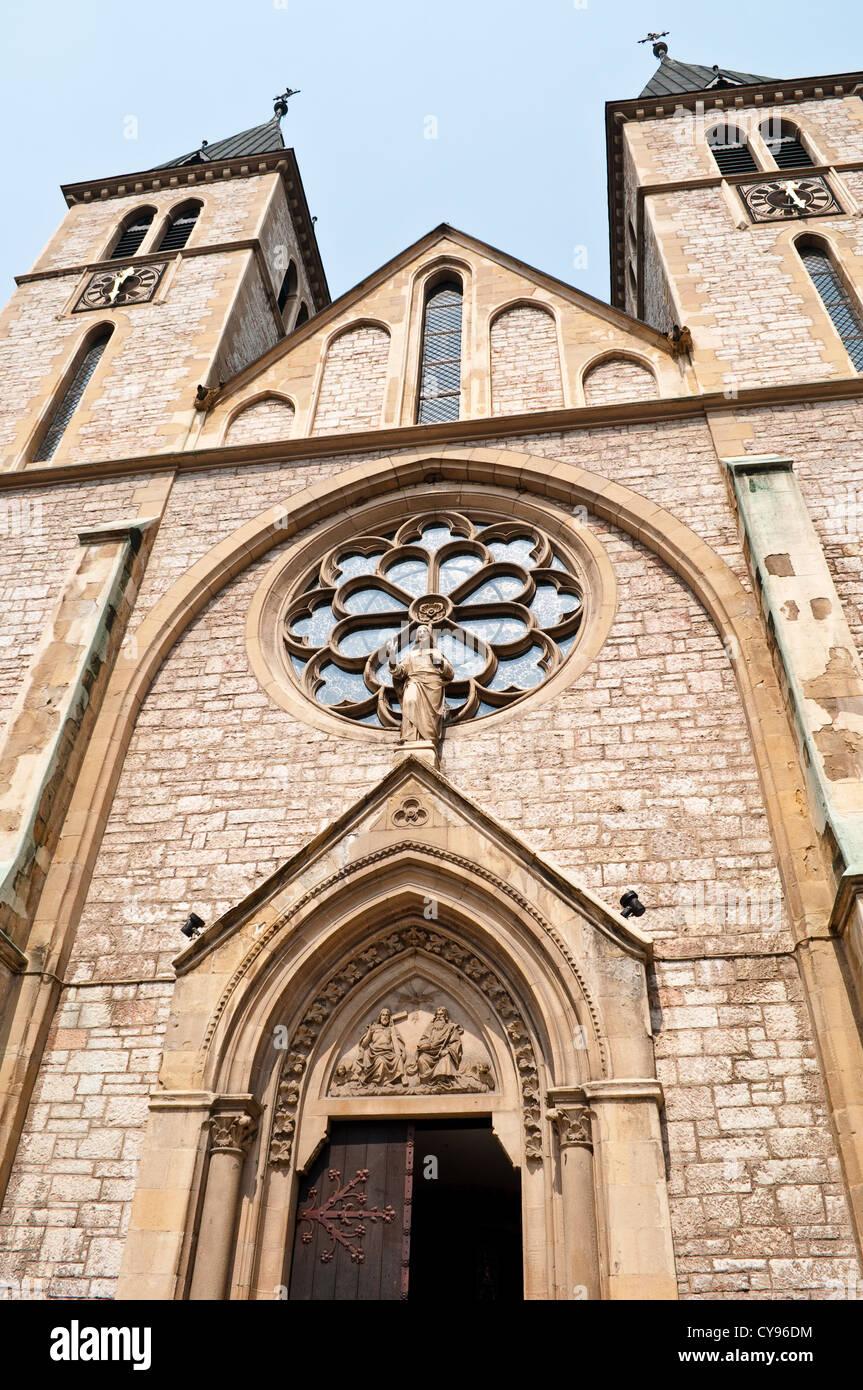 Catholic Cathedral, Sarajevo, Bosnia and Herzegovina - Stock Image