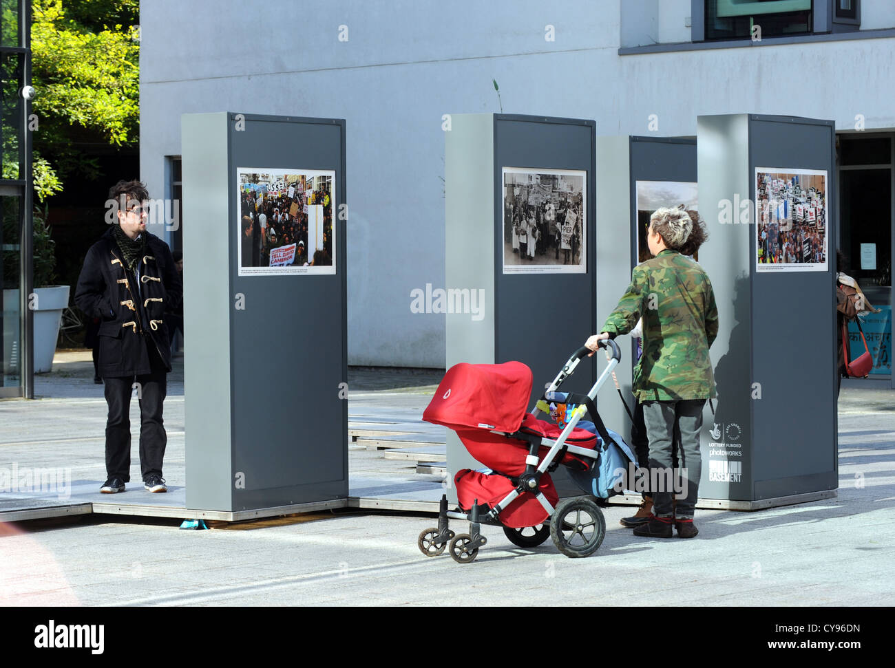 Part of the Brighton Photo Biennial 2012 exhibition of Argus Newspaper photographs - Stock Image
