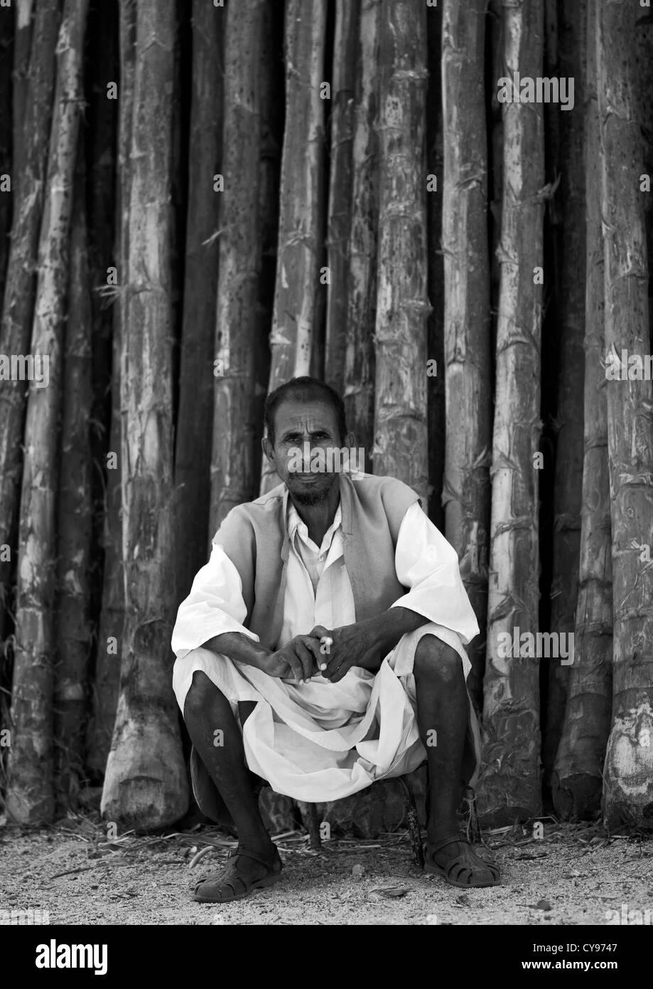 Man In Keren Wood Market, Eritrea - Stock Image