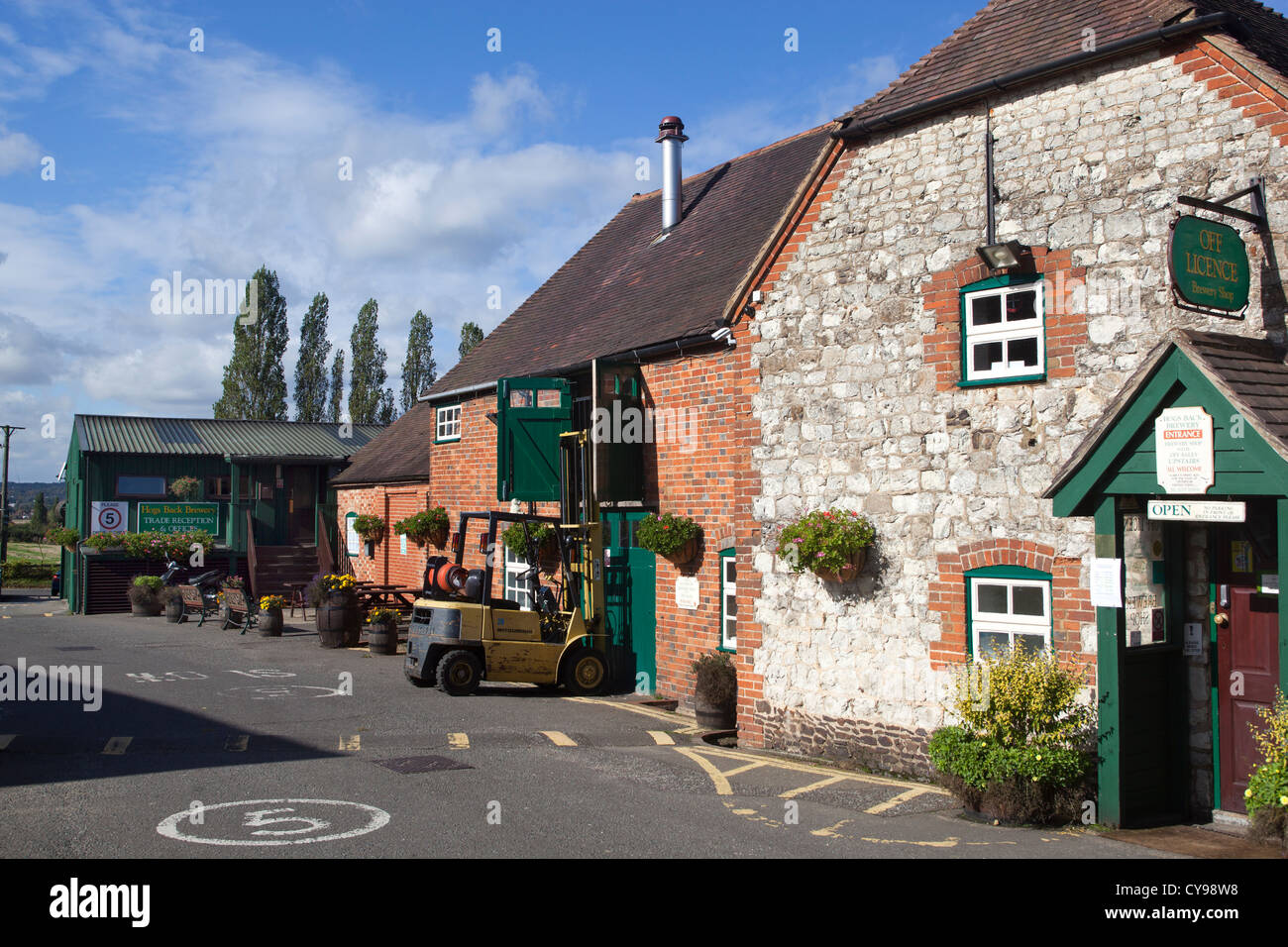 Hogs Back Brewery in Tongham Surrey England - Stock Image