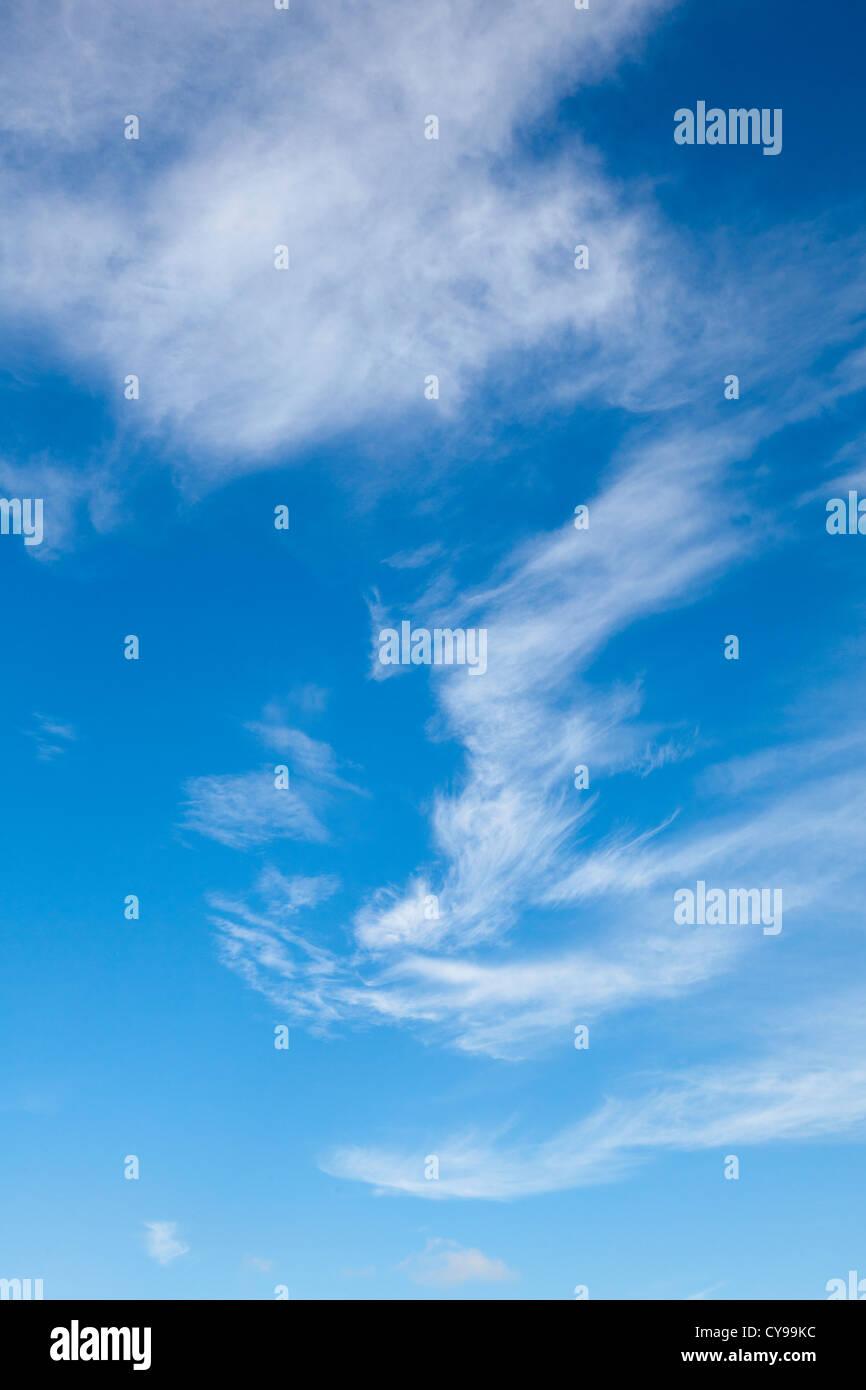 Wispy cloud effect, Oxfordshire, UK Stock Photo