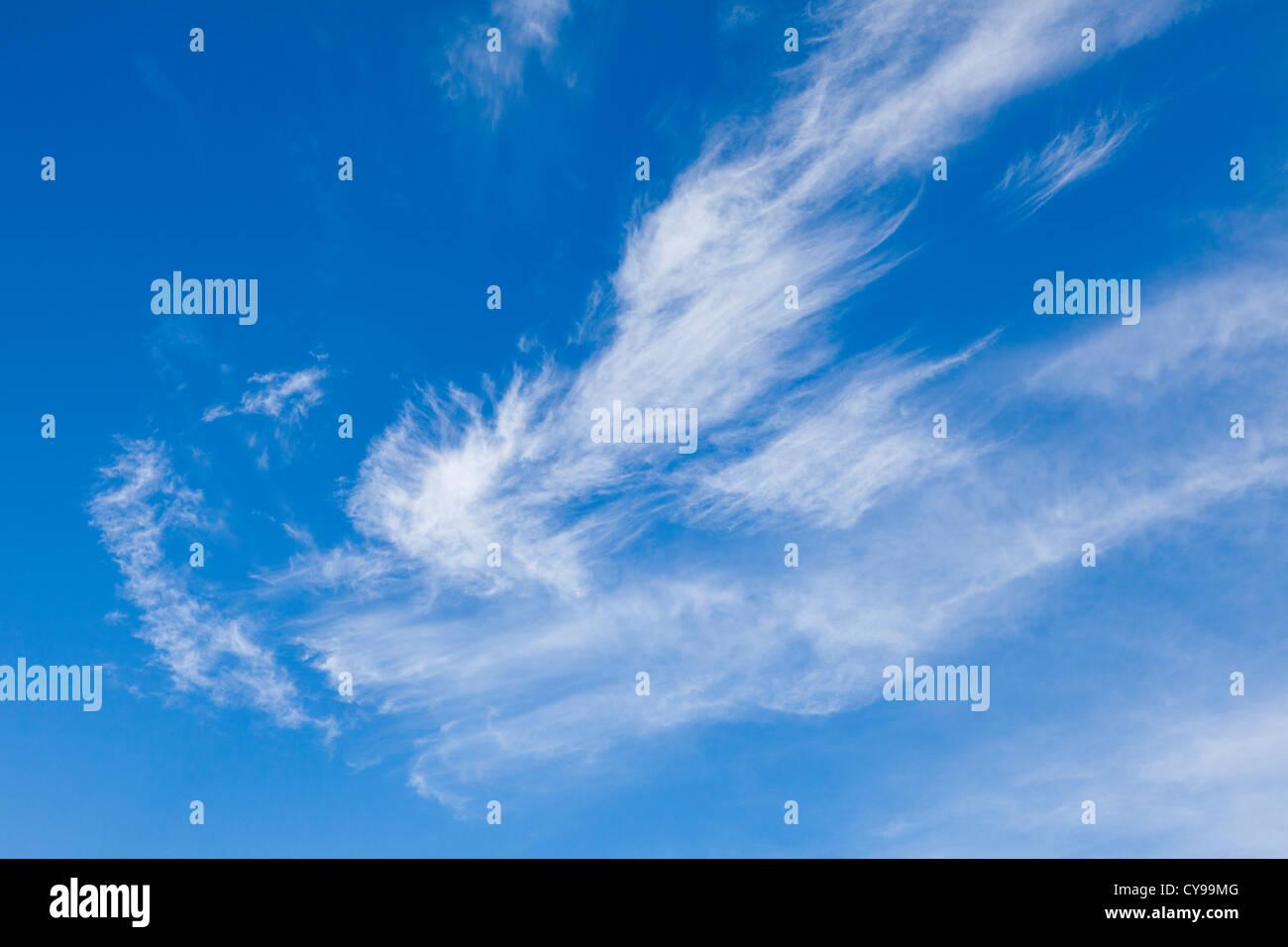 Wispy cloud effect, Oxfordshire, UK - Stock Image