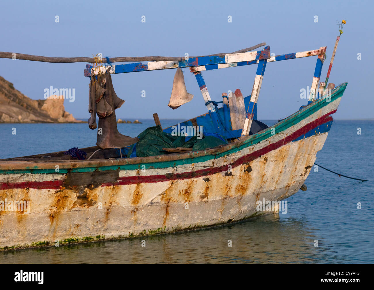 Shark Fins In Dahlak Islands, Eritrea - Stock Image