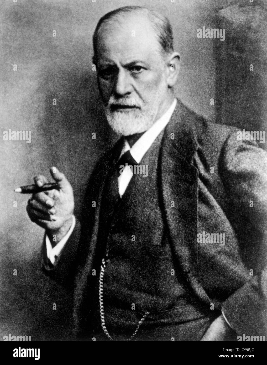Sigmund Freud (1856-1939), Austrian Psychiatrist, Founder of Psychoanalysis, Circa 1921 - Stock Image