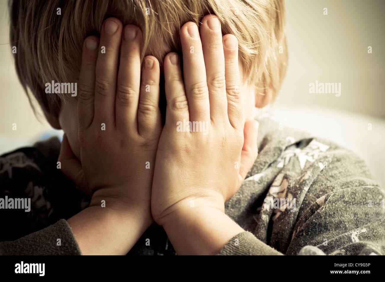 Crying child - Stock Image