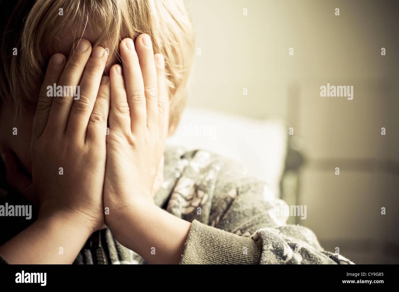 Child crying - Stock Image
