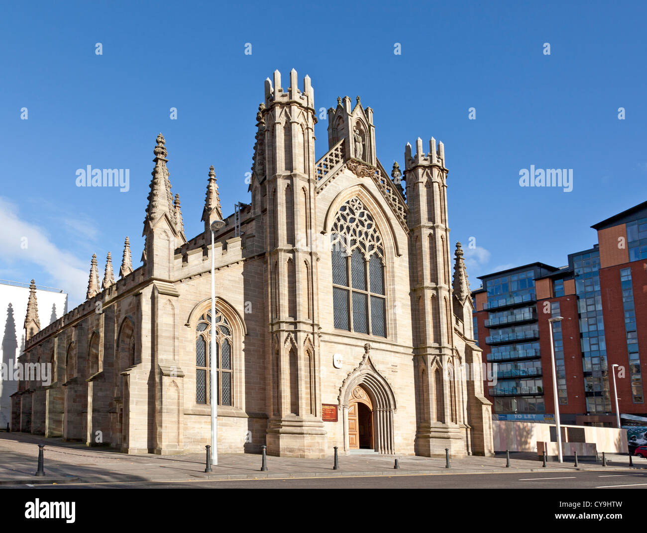 St Andrews Metropolitan Cathedral  (Roman Catholic) [1814] Clyde Street, central Glasgow. - Stock Image