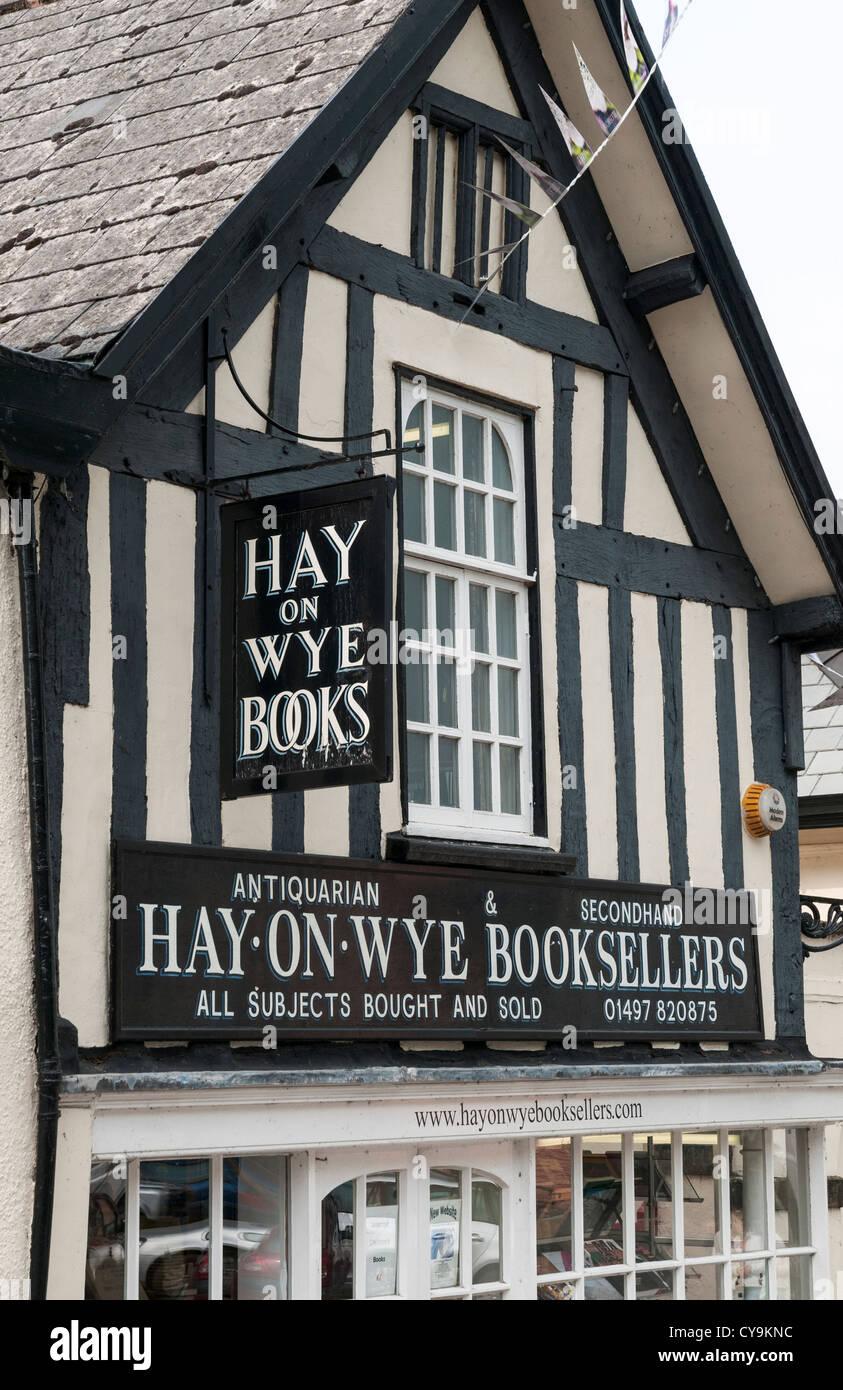 Wales, Hay-on-Wye, bookshop - Stock Image