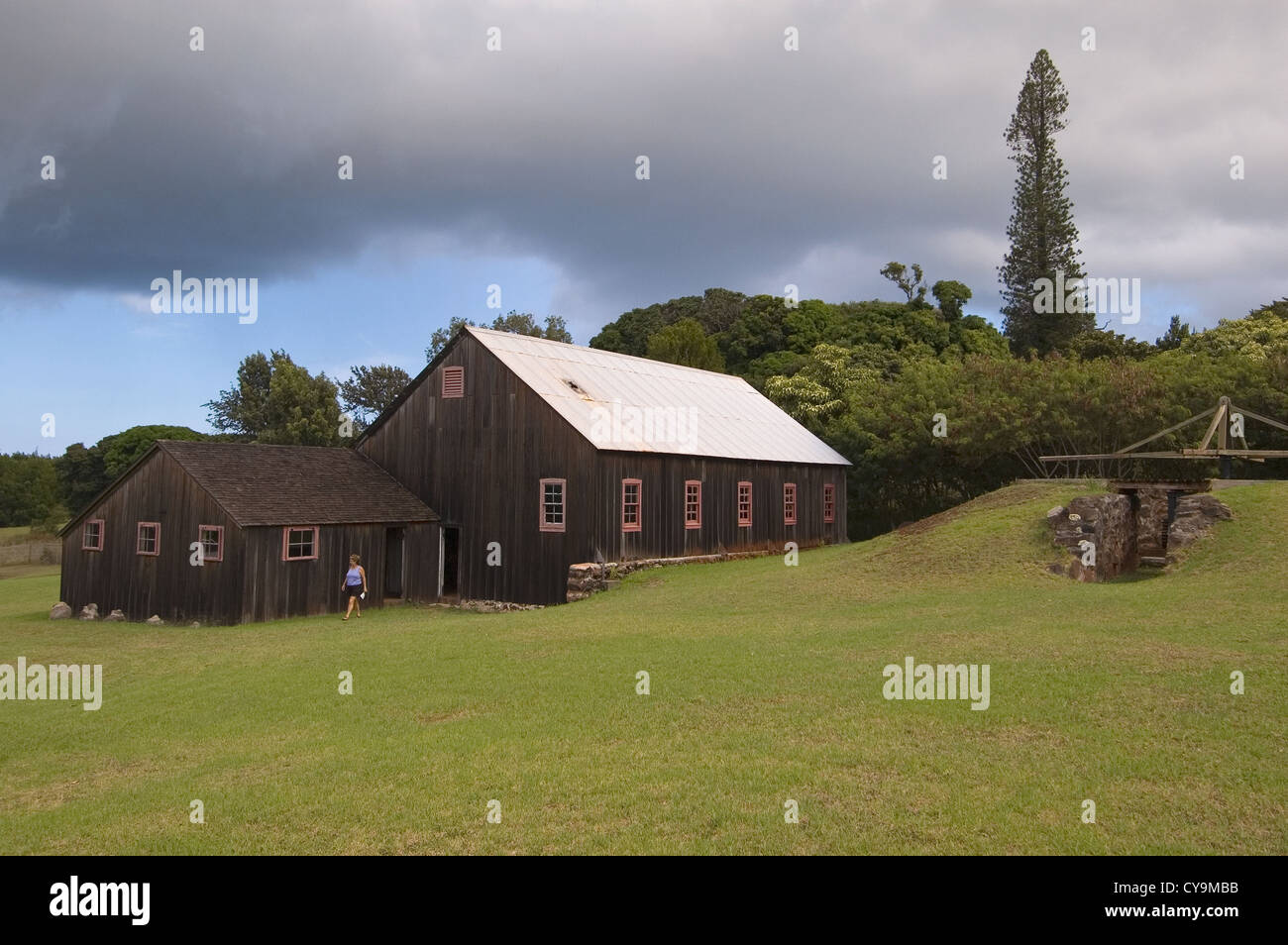 Elk284-6234 Hawaii, Molokai, RW Meyer Sugar Mill Museum Stock Photo