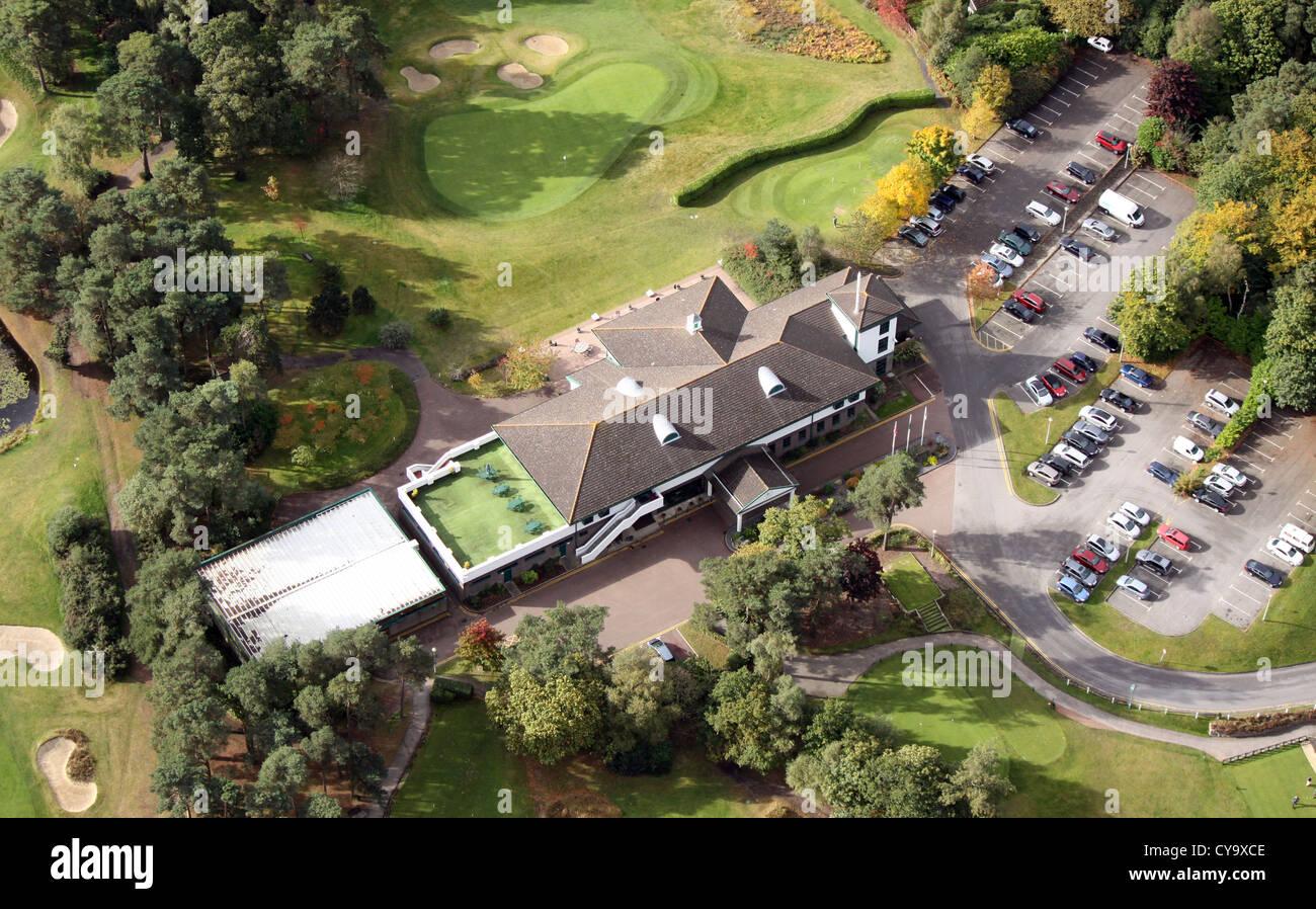 aerial view of Camberley Heath Golf Club, Surrey - Stock Image