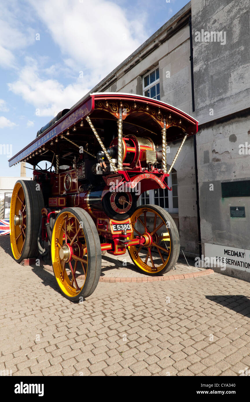Burrell Showmans Road Locomotive, 2342 'The Vanguard' on display at the Ramsgate Harbour Steam event. - Stock Image