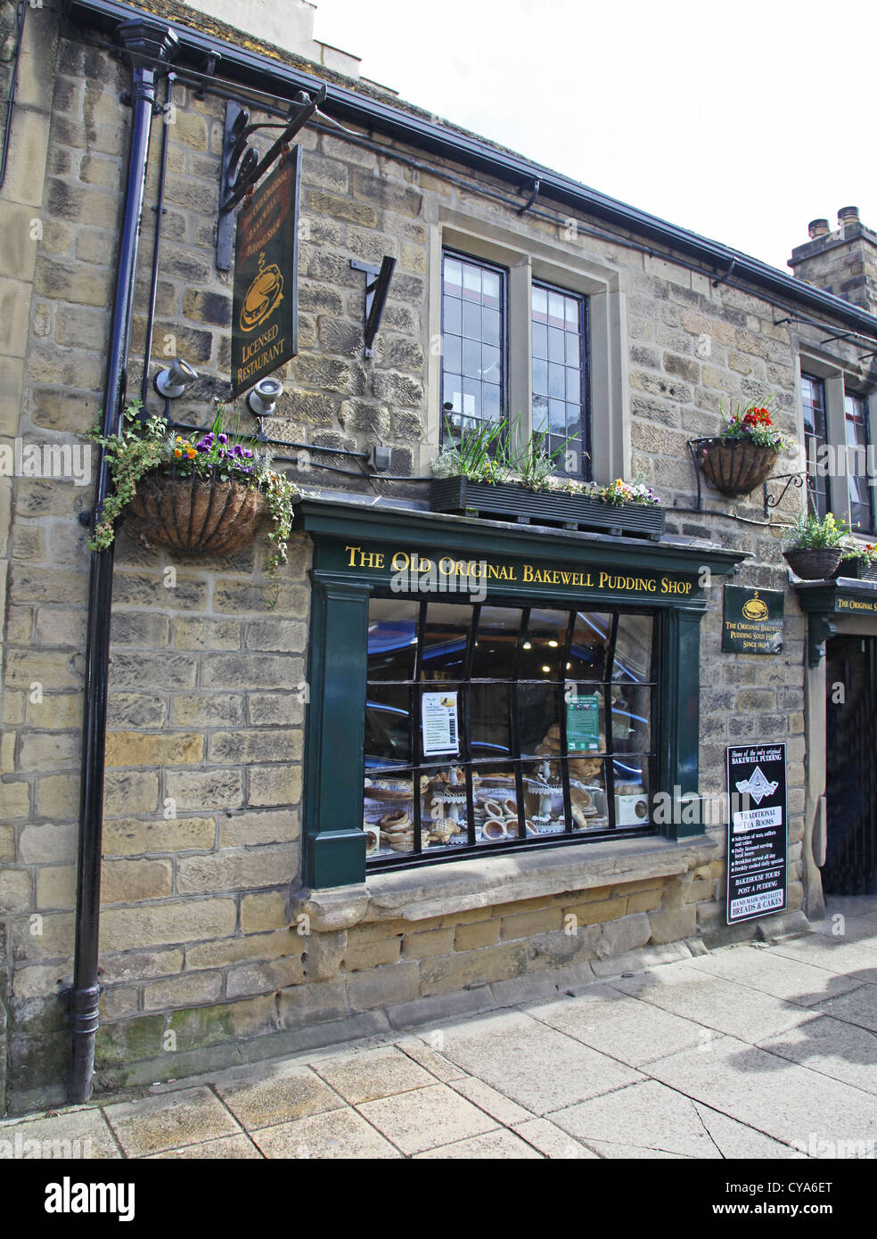 The Original Bakewell Pudding shop in Bakewell Derbyshire Peak District National Park England UK - Stock Image