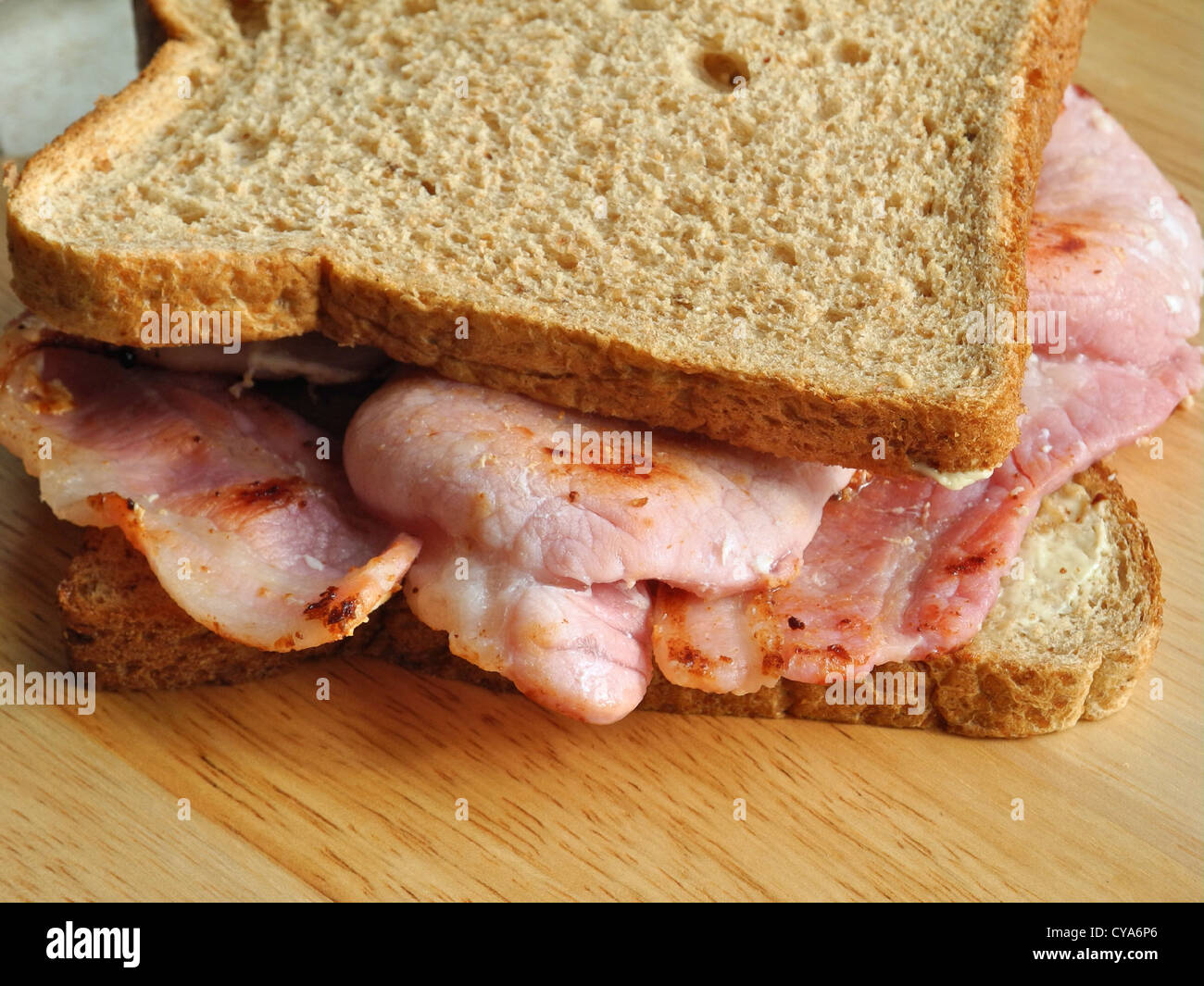 A Bacon Sandwich. From the archives of Press Portrait Service (formerly Press Portrait Bureau) - Stock Image