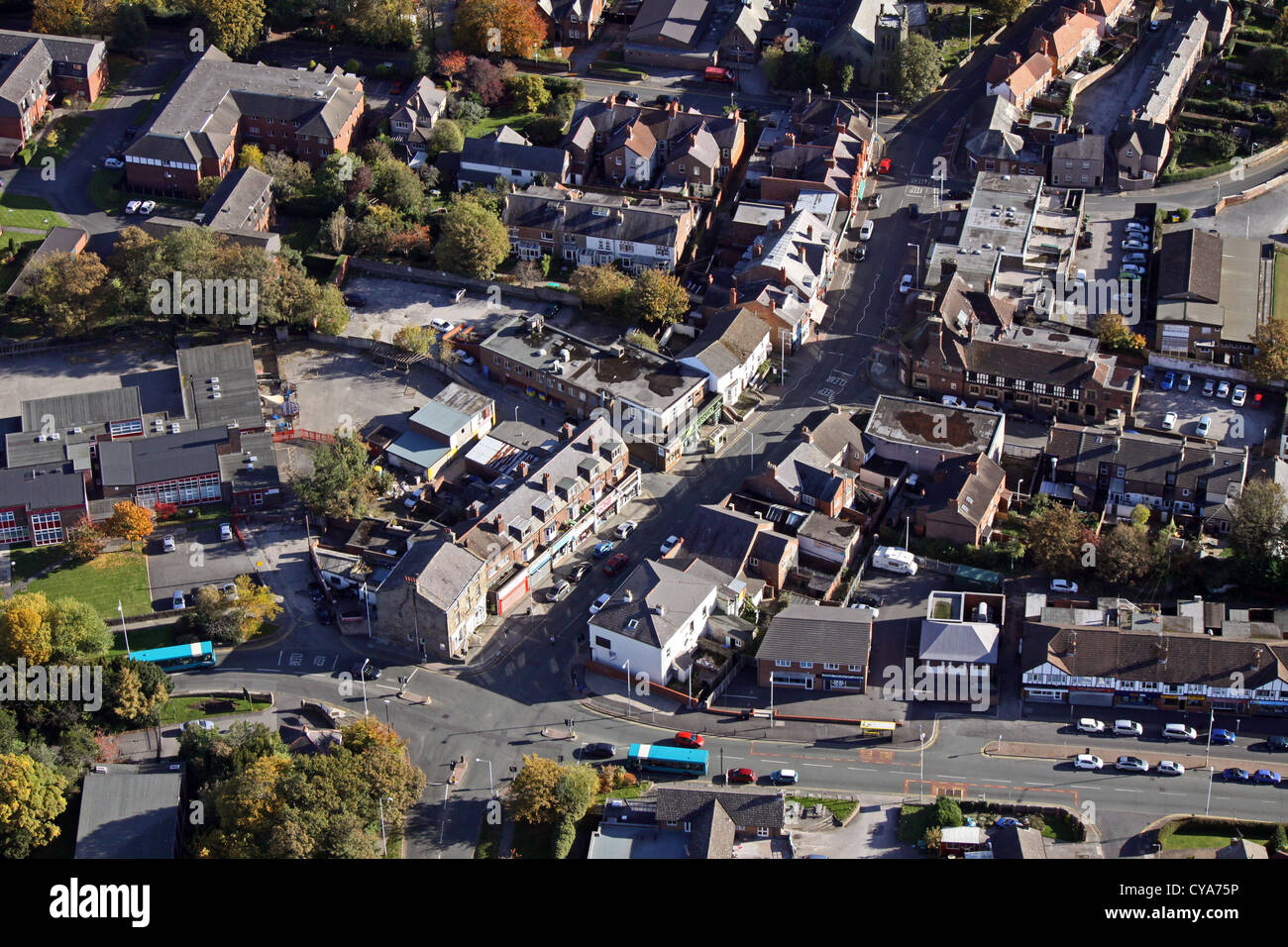 aerial view of Upton on the Wirral, Merseyside - Stock Image