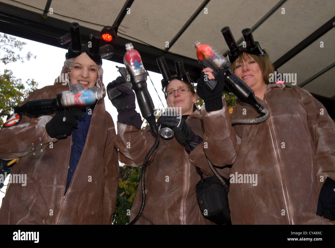 Carnival goers dressed as Ghostbusters, Liphook Carnival, Liphook, Hampshire, UK. 27.10.2012 - Stock Image