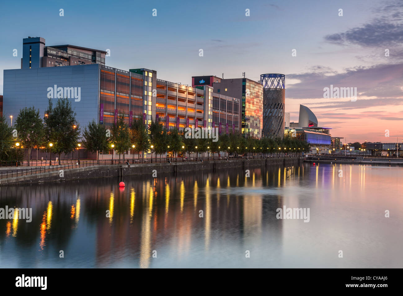 Salford Quays Shopping Mall - Stock Image