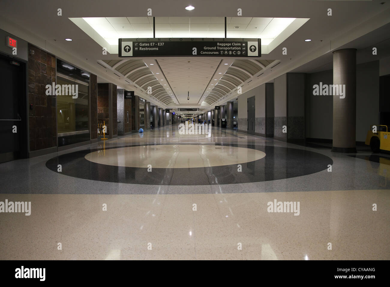 An empty airport terminal at Hartsfield-Jackson Airport in Atlanta, which is the busiest airport in the world. - Stock Image