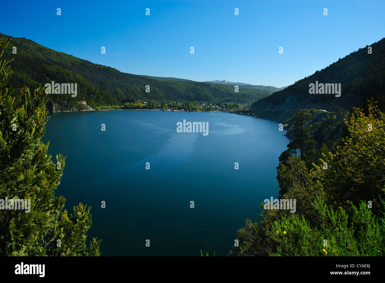 One of the 7 lakes of the Andes close to San Martin de los Andes, Patagonia, Argentina - Stock Image