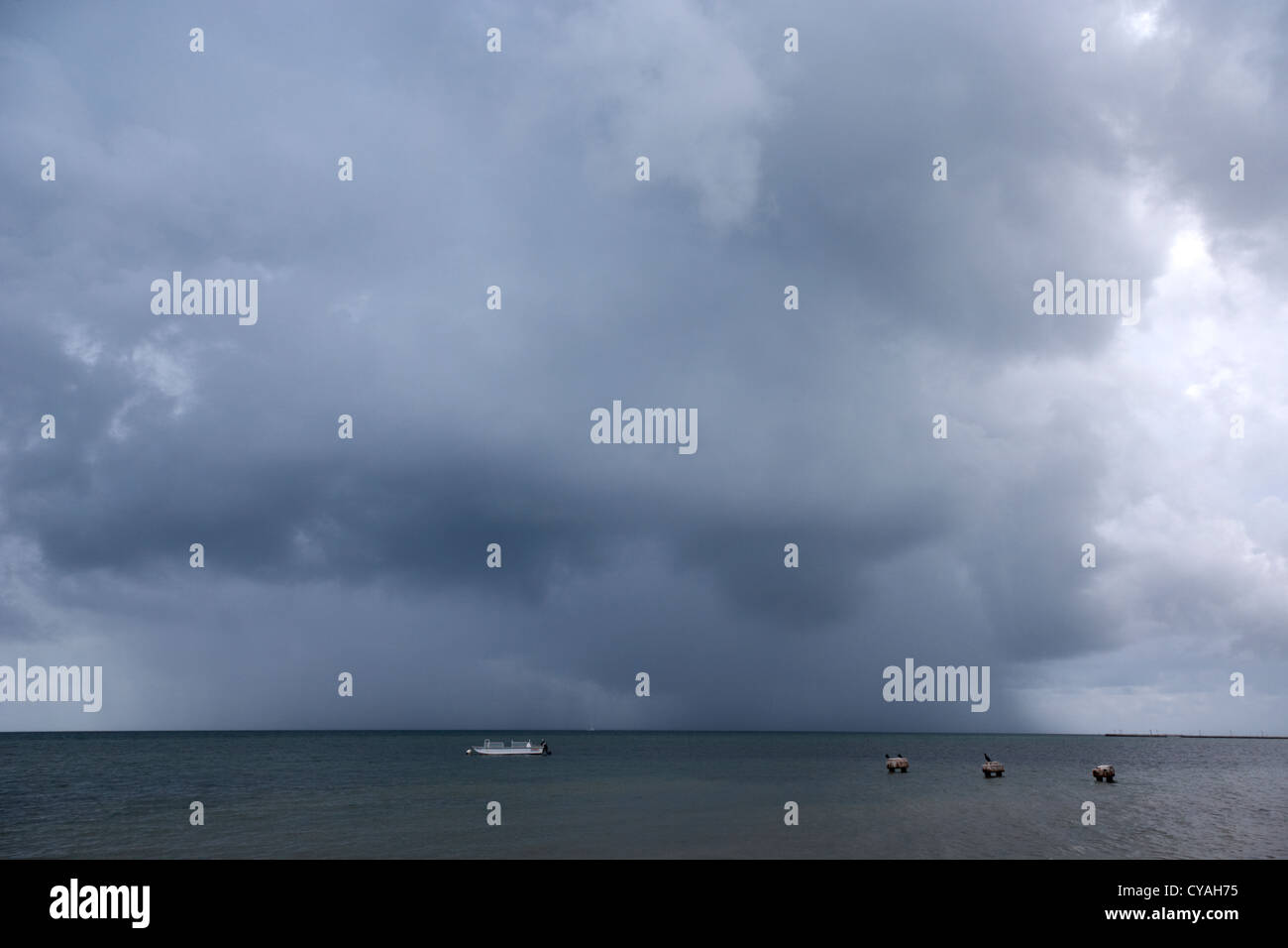 rainstorm thunderstorm storm clouds approaching key west florida usa - Stock Image