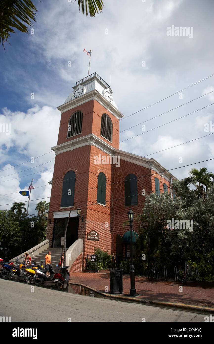 key west chamber of commerce visitors center florida usa - Stock Image