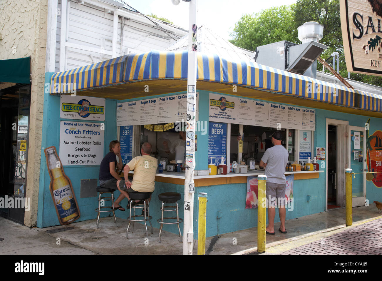 the conch shack cafe bar stall key west florida usa - Stock Image