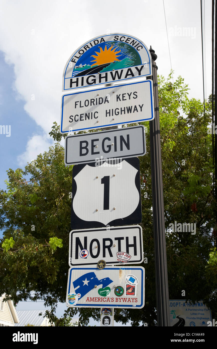 Us Route 1 Mile Marker 0 Start Of The Highway Key West