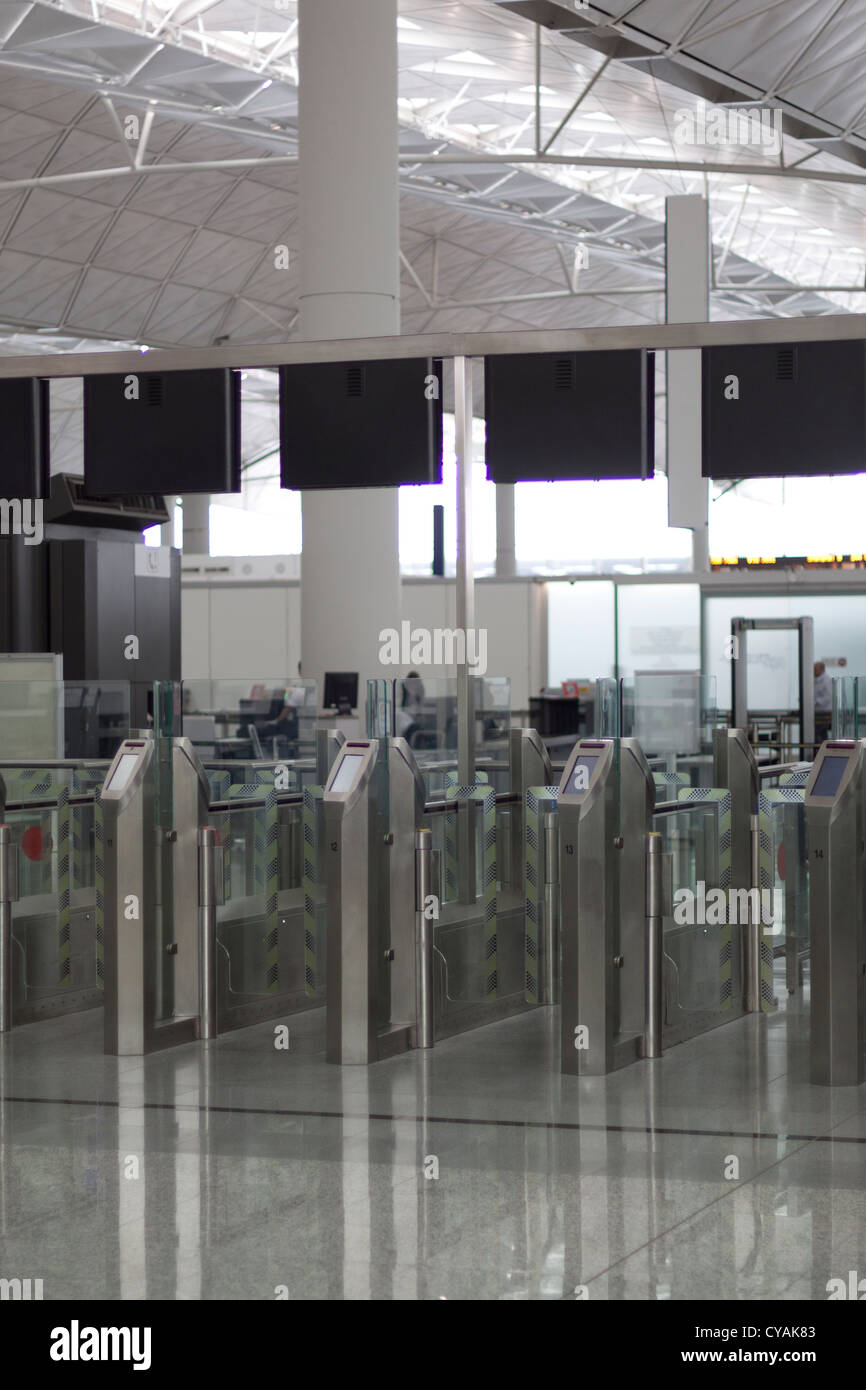 Airport security gate stock photos