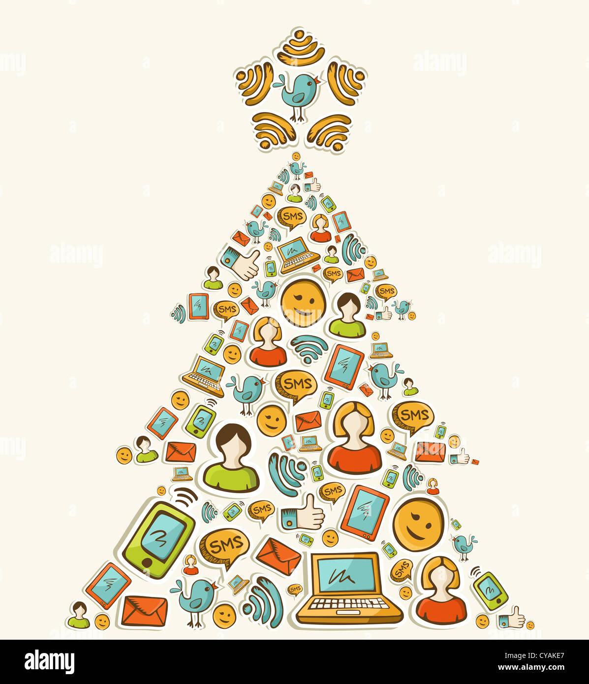 Smart Phone Merry Christmas Sms Stock Photos & Smart Phone Merry ...