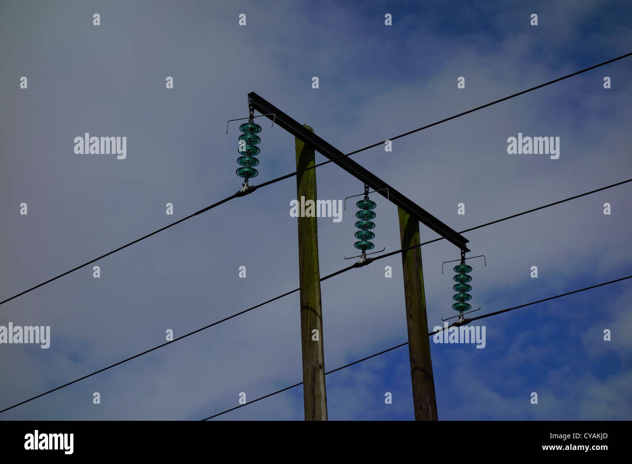 power lines - Stock Image