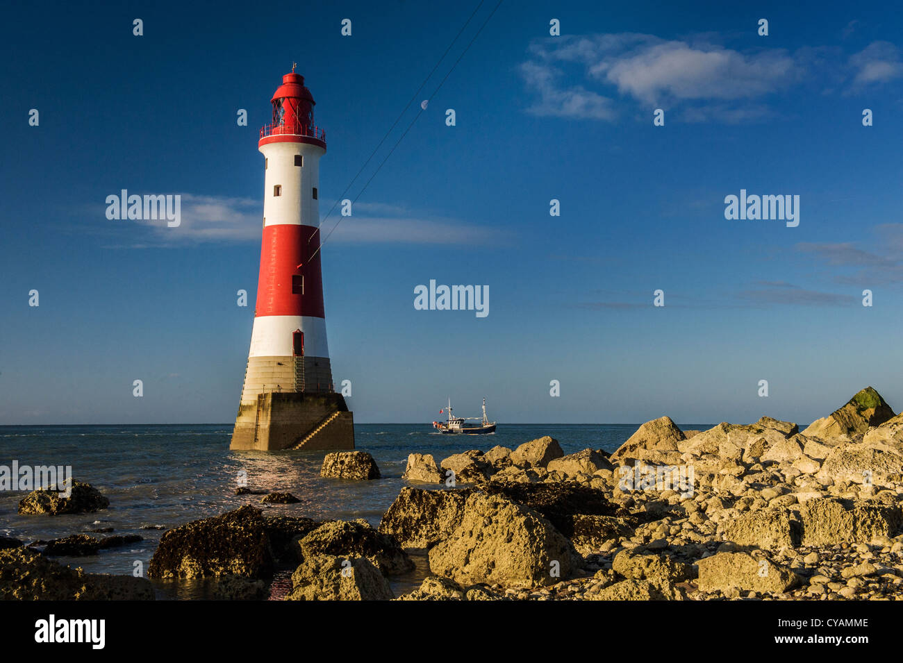 Beachy Head LIghthouse, East Sussex - Stock Image