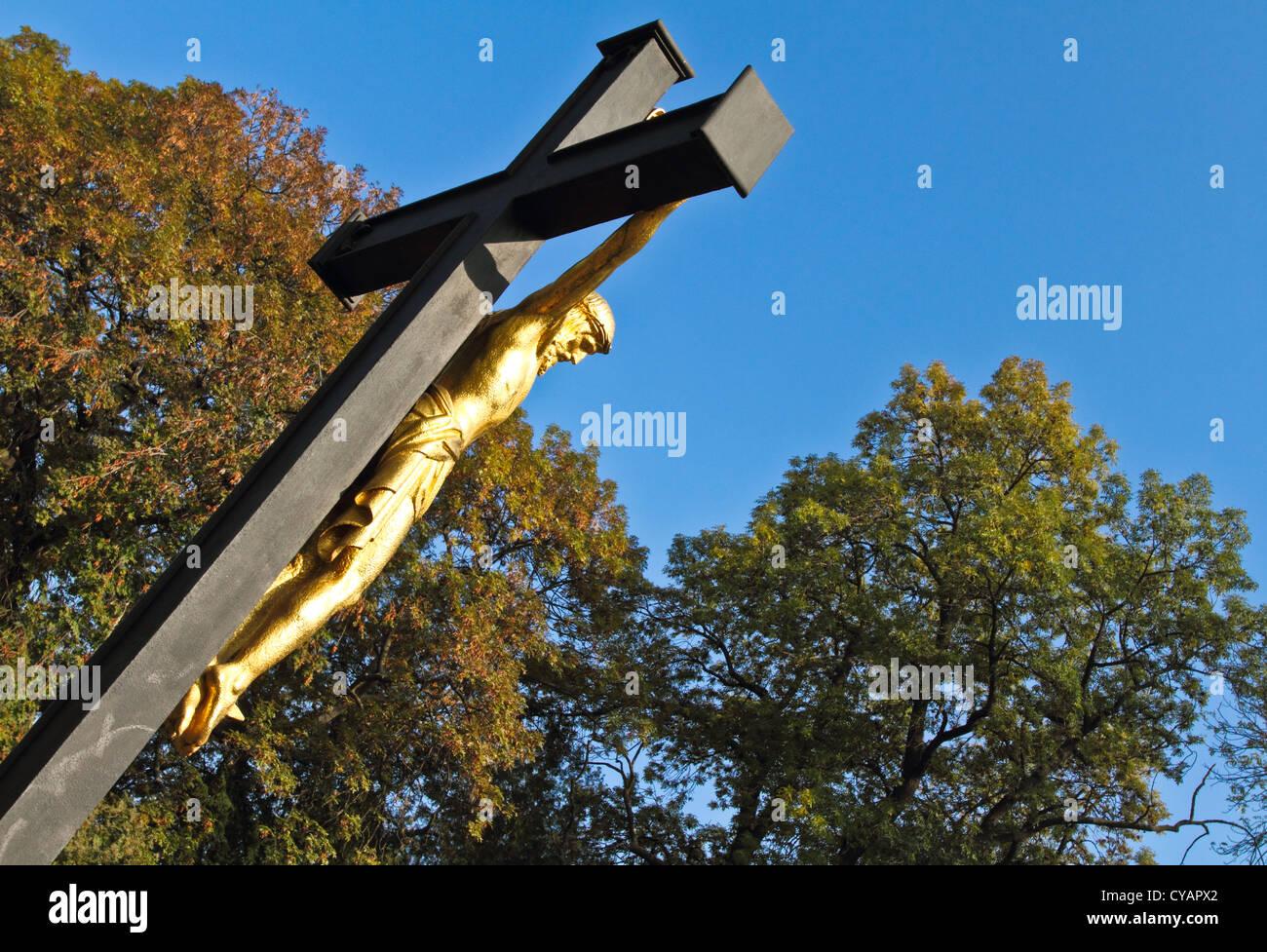 Jesus on the cross - Stock Image