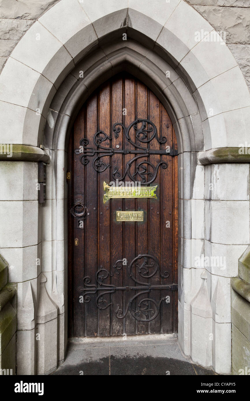 Chapter House door at Christ church cathedral in Dublin Ireland - Stock Image & Christ Church Cathedral Dublin Stock Photos u0026 Christ Church ...