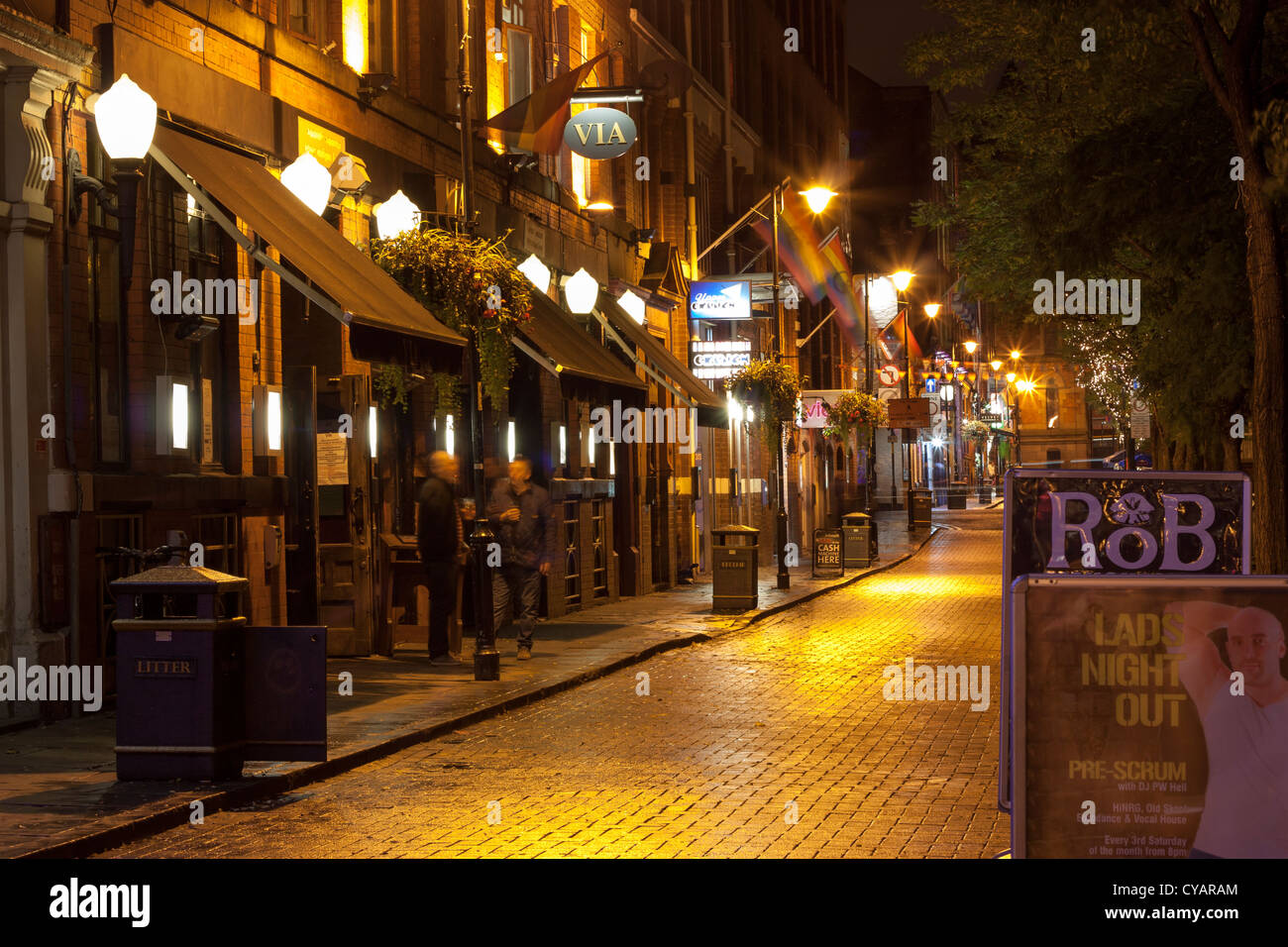 Canal Street, Manchester - Stock Image