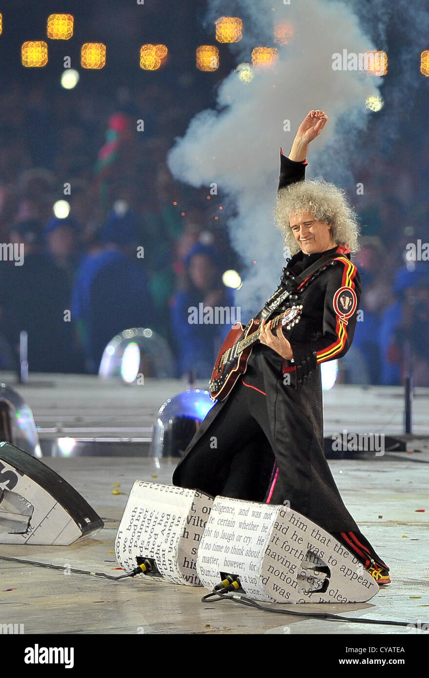 Brian May of Queen Stock Photo