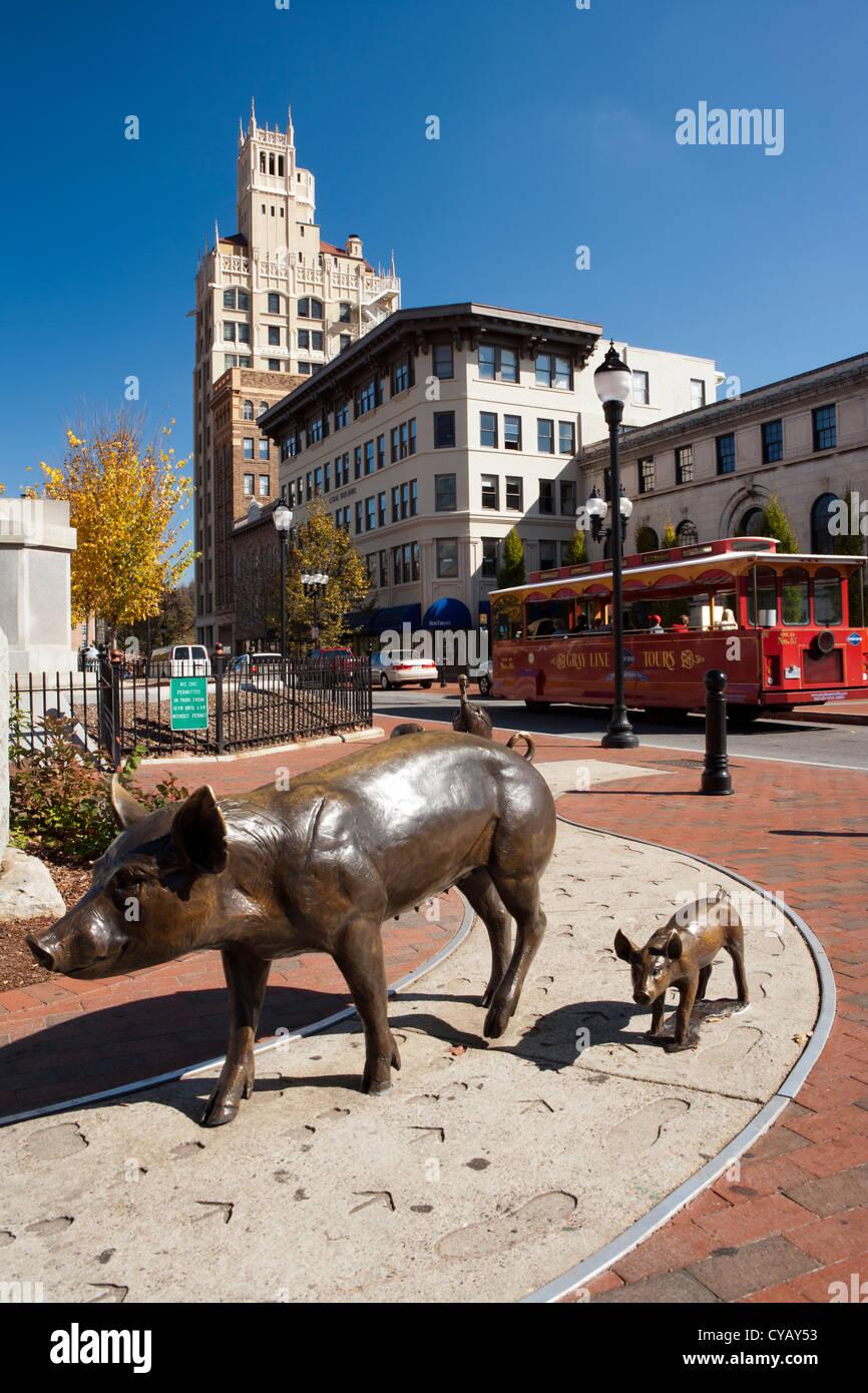 Pack Square - Asheville, North Carolina USA - Stock Image