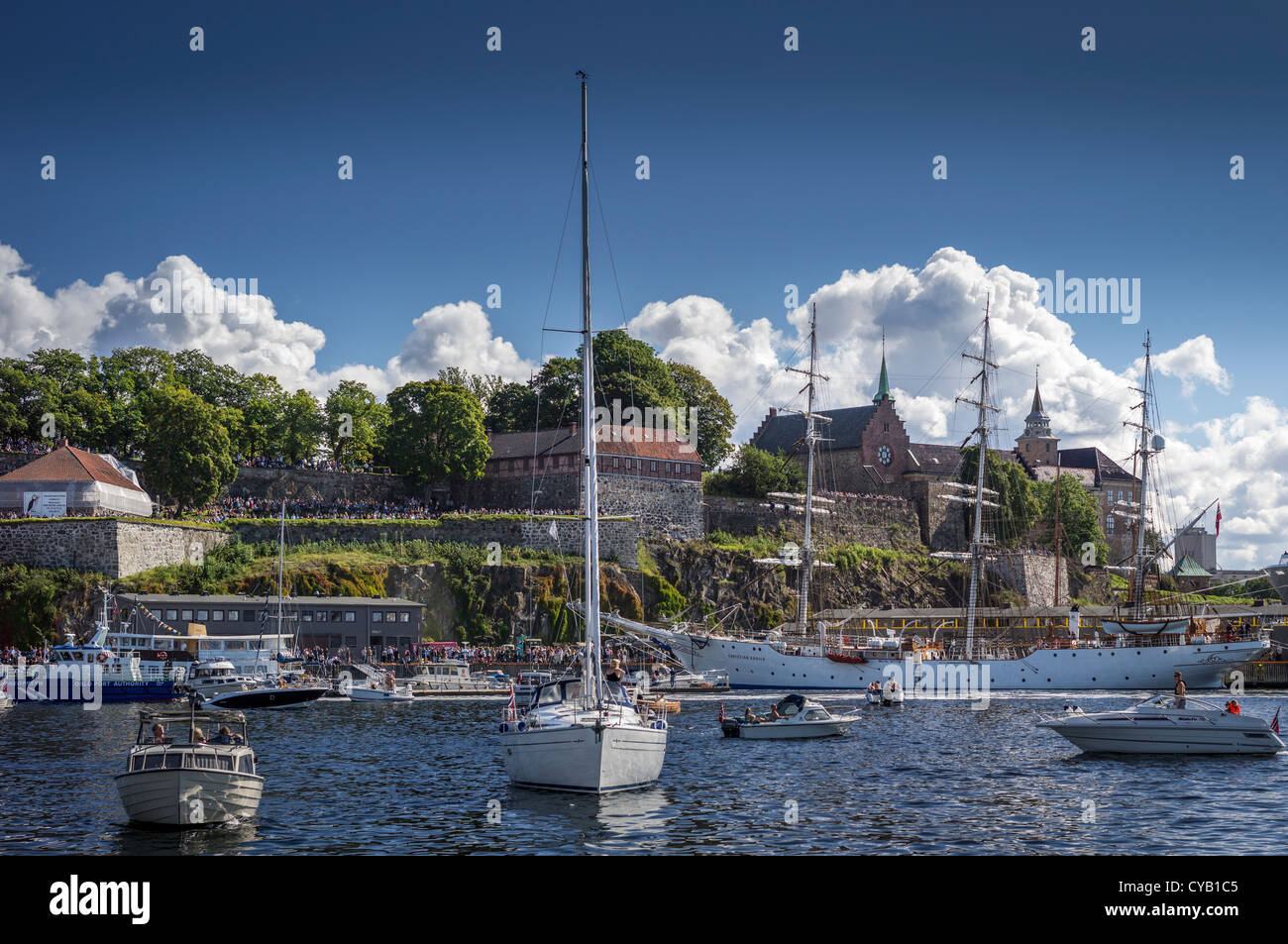 OSLOFJORD OSLO NORWAY - Stock Image