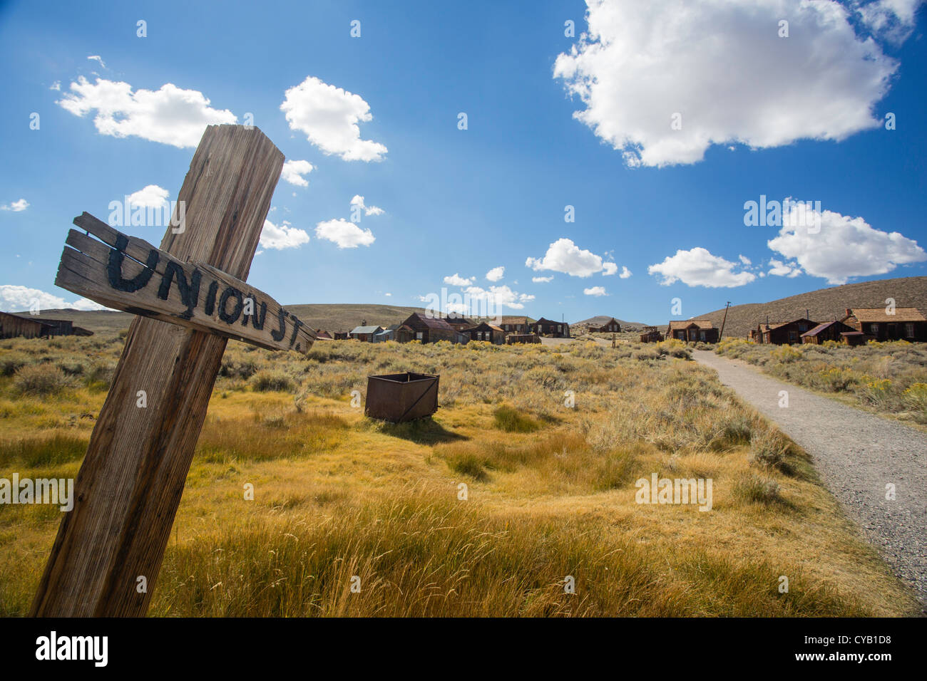 Union St in Bodie - Stock Image
