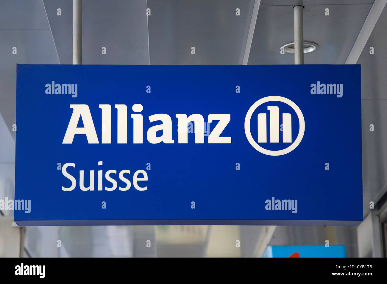 europe, switzerland, zurich, allianz, insurances and financial services - Stock Image