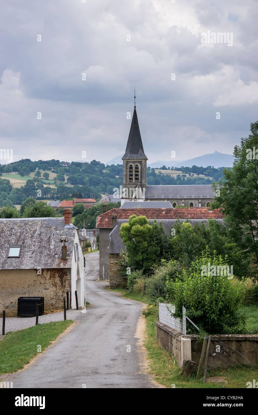 Mauvezin village in Hautes-Pyrénées, France Stock Photo