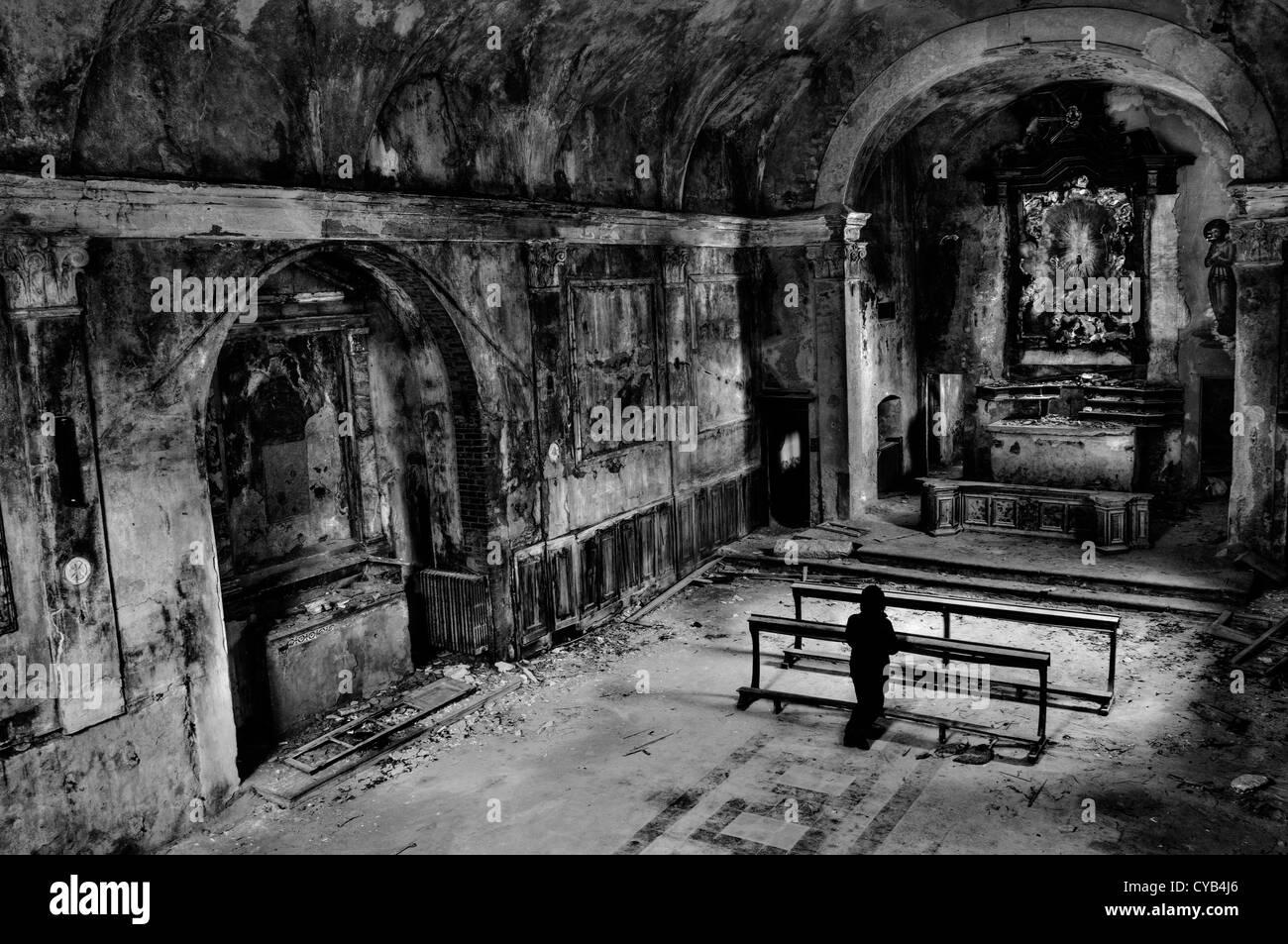 Abandoned church - Stock Image