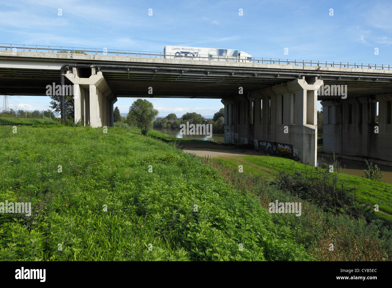 Viaduct of Indiano, Florence Stock Photo