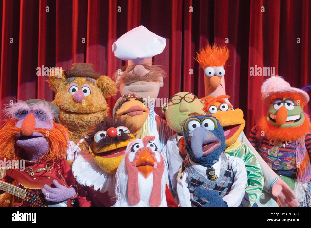 THE MUPPETS 2011 Walt Disney Pictures film - Stock Image