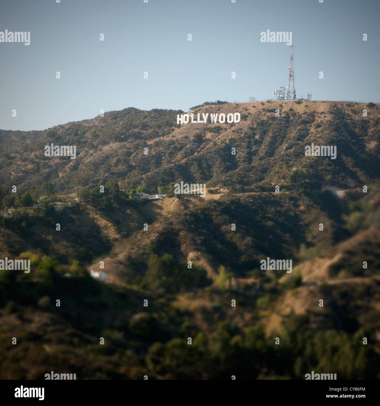 Hollywood sign, Los Angeles, California, USA - Stock Image
