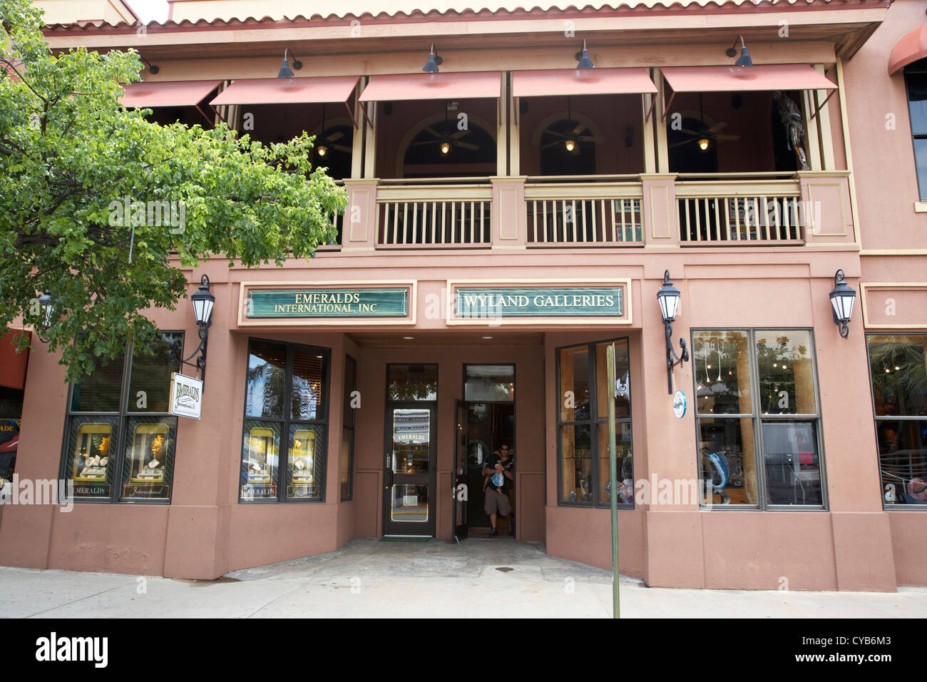 wyland art gallery and emerald store key west florida usa - Stock Image