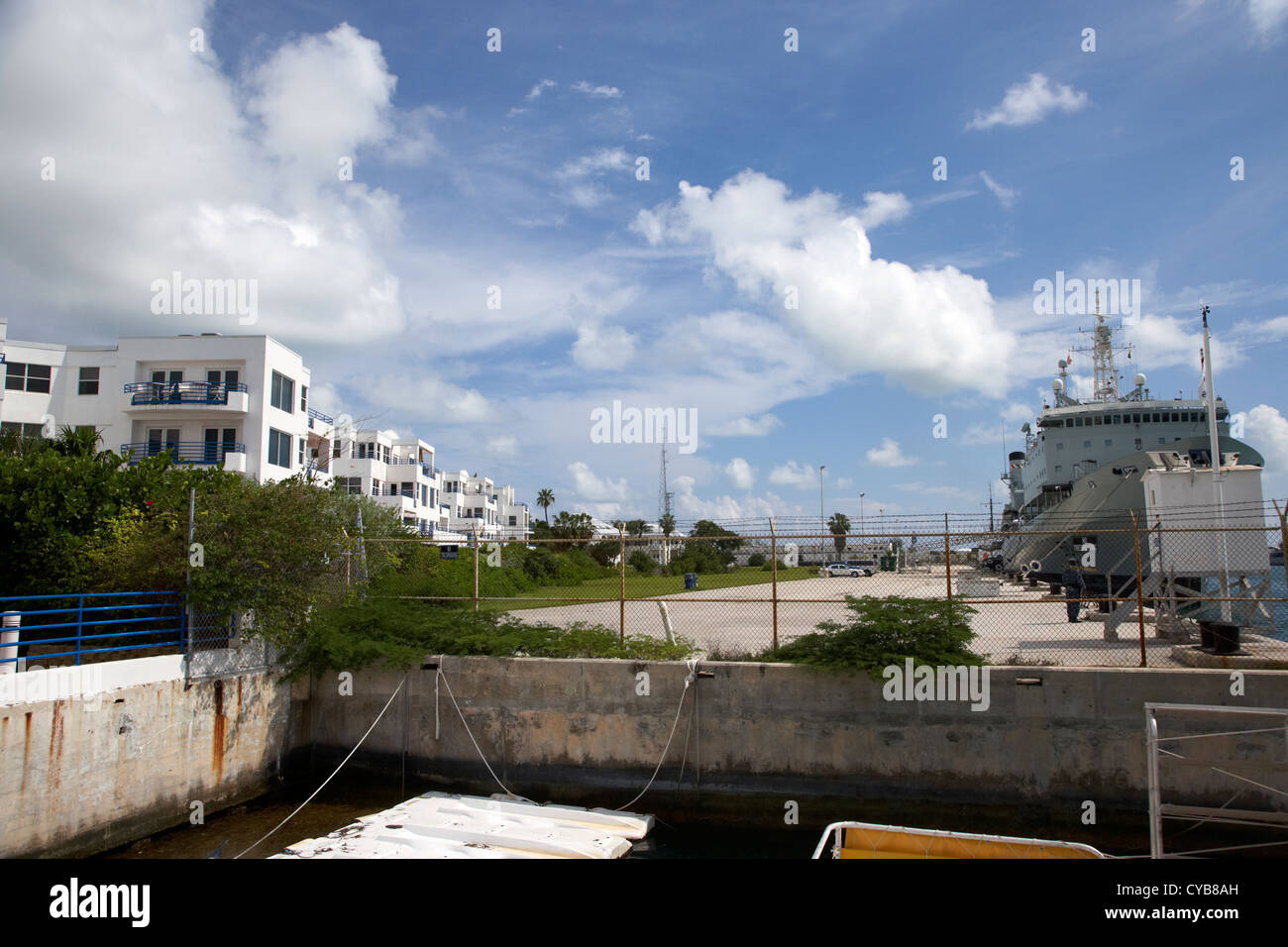 navy warships and us naval station key west harbor florida usa Stock Photo