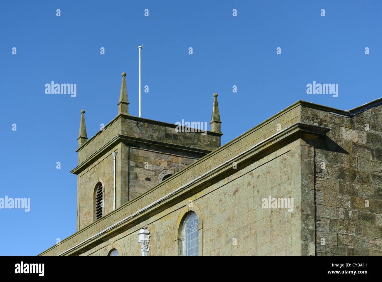 Church of Saint Bridget (detail). Moresby, Cumbria, England, United Kingdom, Europe. - Stock Image