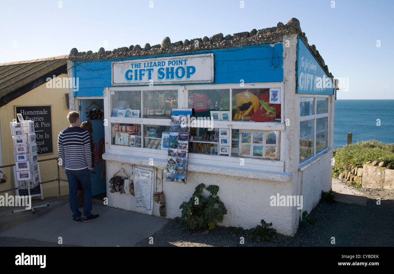Gift shop Lizard Point, Cornwall, England most southerly point in mainland Britain - Stock Image