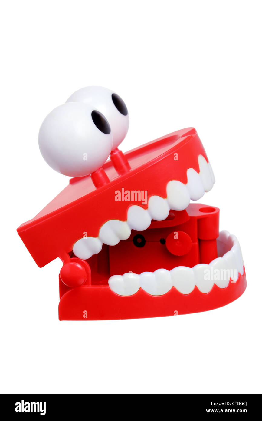 Chattering Teeth Toy - Stock Image