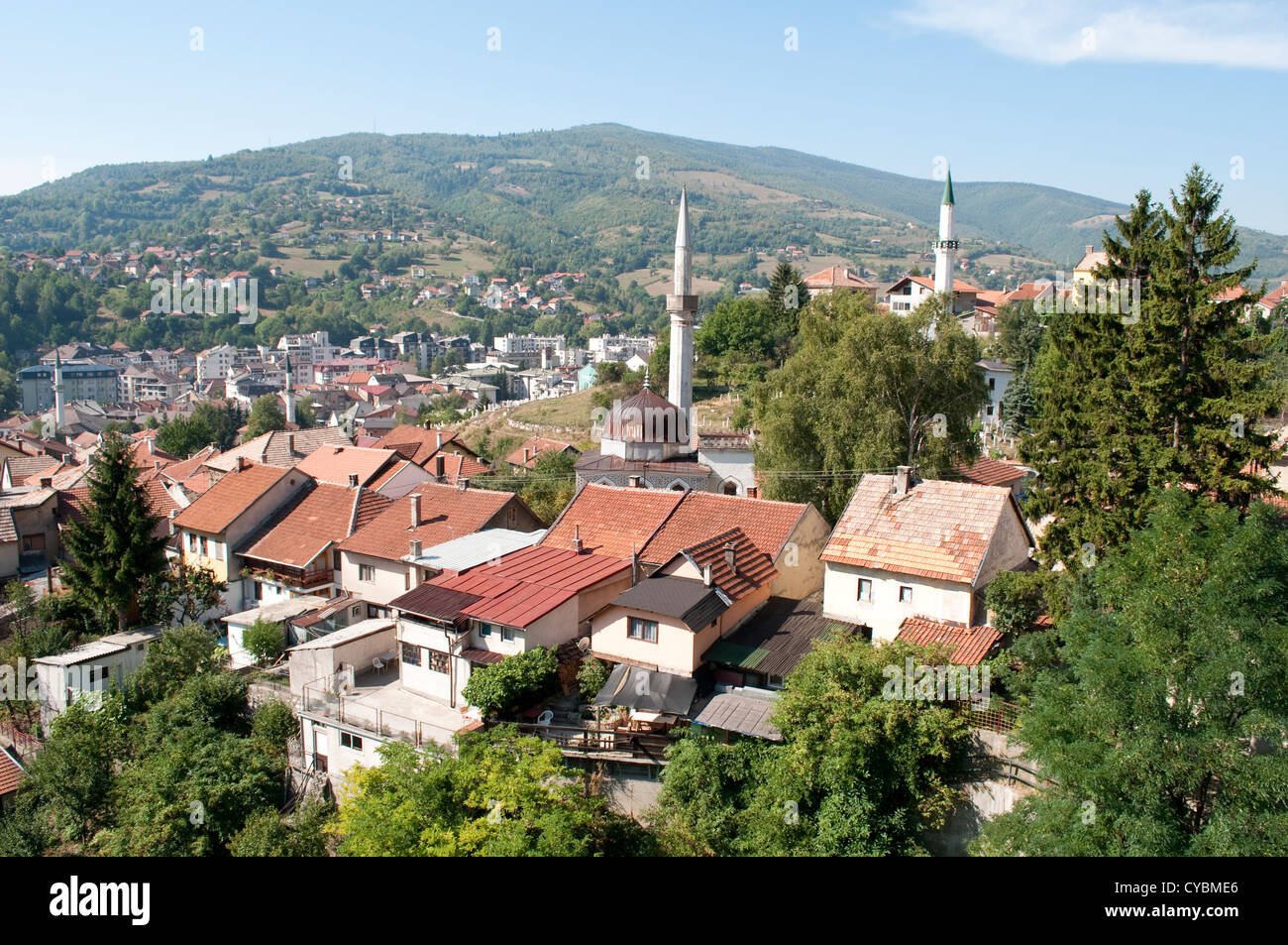 View of old Travnik, Bosnia and Herzegovina - Stock Image