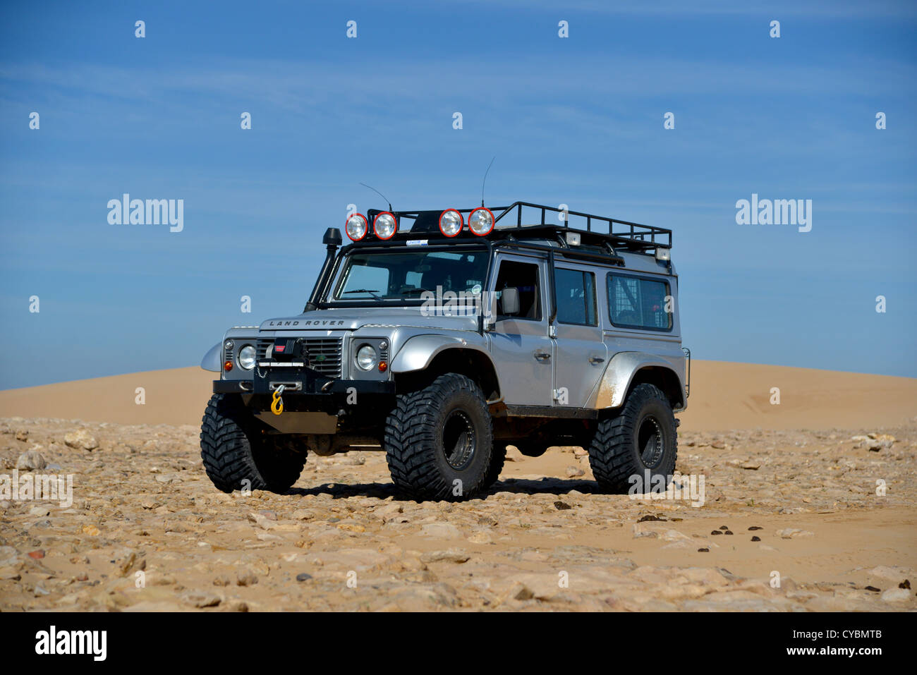Off road expedition prepared 2012 Land Rover Defender 110 with Stock